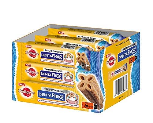 Pedigree DentaFlex für mittelgroße Hunde (10-25kg), Zahnpflege-Snack mit Huhn, 9 Packungen (9 x 80 g)