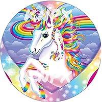 Decoración para tarta con diseño de unicornio arcoíris ...