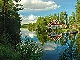Lais Puzzle Haus Wasser Reflexion Schweden 1000 Teile