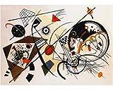 Quadri L&C ITALIA Kandinsky Quadri Moderni Soggiorno Astratti 70x50 Stampa su Tela Camera da Letto, Ufficio Cucina