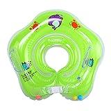 Eizur Baby Nuoto Anello Salvagente Regolabile per Bambini Supporto di Collo Bambini nuotano anello Baby galleggiante collare da bagno Baby Float Piscina Neonati, Verde