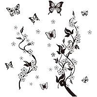Toruiwa 1X Pegatina de Pared Pegatinas de baño Decoracion hogar Vinilos Decorativos Pared Adhesivo de Pared extraíble de Pensamiento Negro 90 * 60CM