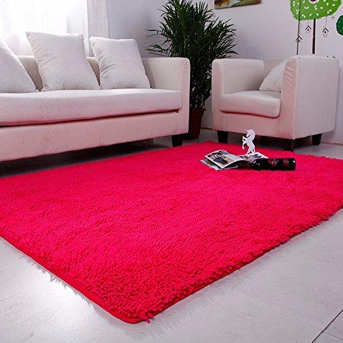 Absorbente de alta densidad dormitorio Salón mesa de café alfombras preciosas alfombras habitación de matrimonio de cabecera alfombrilla 1,4×200cm, en rojo