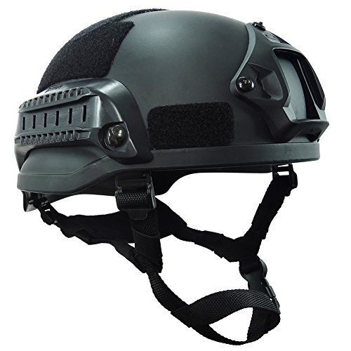 onetigris mich 2002 aktionversion Táctica Casco ABS Casco para airsoft paintball, negro