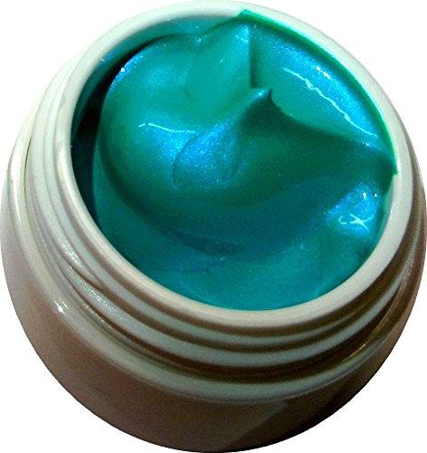 5 ml Acrylmalfarbe Blau-Grün irisierend. Perfekt für das filigrane zeichnen. Im Tiegel