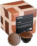 Marca Amazon-Solimo Cápsulas Lungo, compatibles Dolce Gusto- café certificado UTZ- 96 cápsulas (6 x 16)