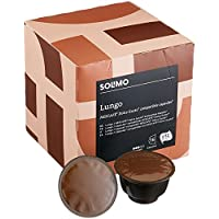 Marca Amazon-Solimo Cápsulas Lungo, compatibles Dolce Gusto*- café certificado UTZ- 96 cápsulas (6 x 16)