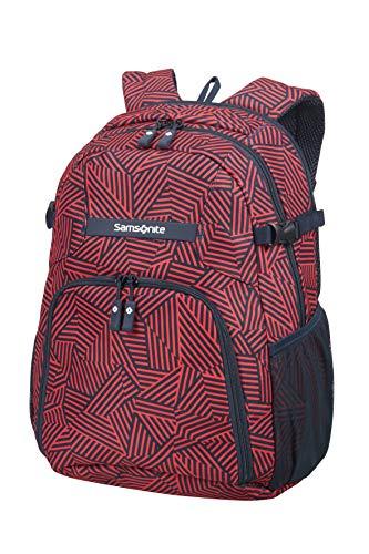 Samsonite Rewind - Laptop Rucksack M, 44 cm, 23 L, rot (Capri Red Stripes) -
