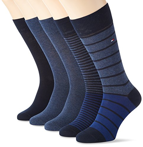 tommy-hilfiger-th-men-stripe-box-5p-chaussettes-homme-bleu-dark-navy-fr-43-46-taille-fabricant-43-lo