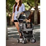 Valentina Valentti PET STROLLER, PUSHCHAIR FOR PETS IN PINK COLOUR, all in one pet stroller, pet carrier, dog car seat 12