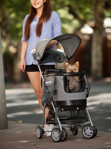 Valentina Valentti PET STROLLER, PUSHCHAIR FOR PETS IN PINK COLOUR, all in one pet stroller, pet carrier, dog car seat 6