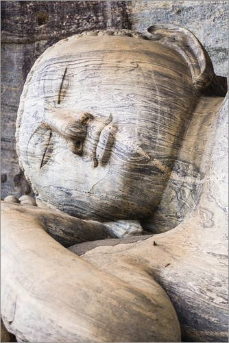 poster-70-x-110-cm-reclining-buddha-in-nirvana-at-gal-vihara-rock-temple-polonnaruwa-unesco-world-he
