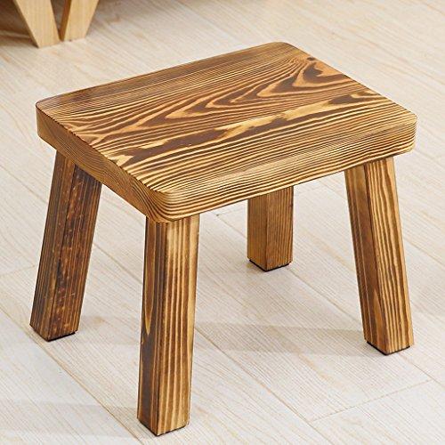 Brennende Holzkohle (Heimgebrauch kiefer hocker erwachsene couchtisch hocker kreative bank hause massivholz hocker kleine seite kleinen stuhl holzkohle brennende farbe ( Design : B ))