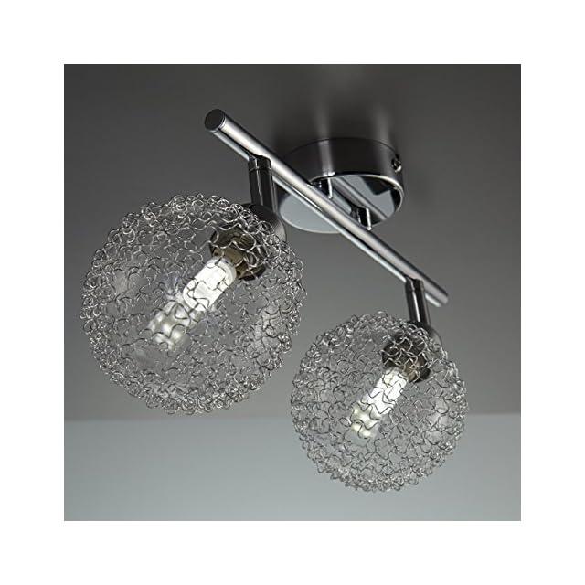 B K Licht Plafonnier 4 Spots Led Orientables Boules En