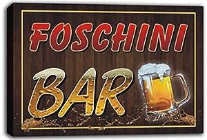 scw3-094359Foschini Nom Home Bar Pub bière Tasses Panneau Impression sur toile tendue Cheers