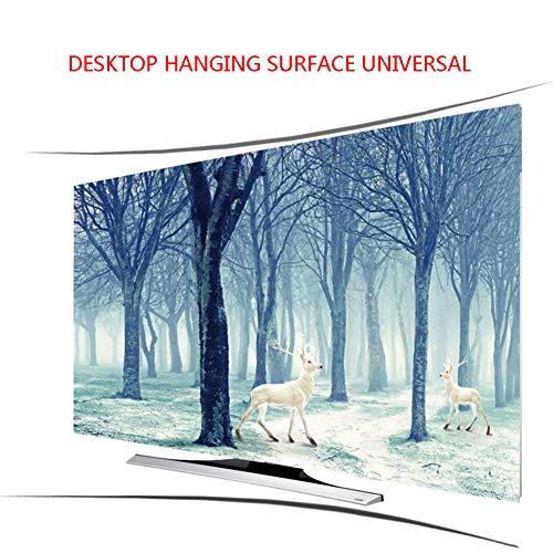 """Lxxzz Curved TV Desktop Hanging Hood Tuch Staubdicht Sonnenschutz Professionelle Anpassung Fernseher 55 Zoll,70"""""""