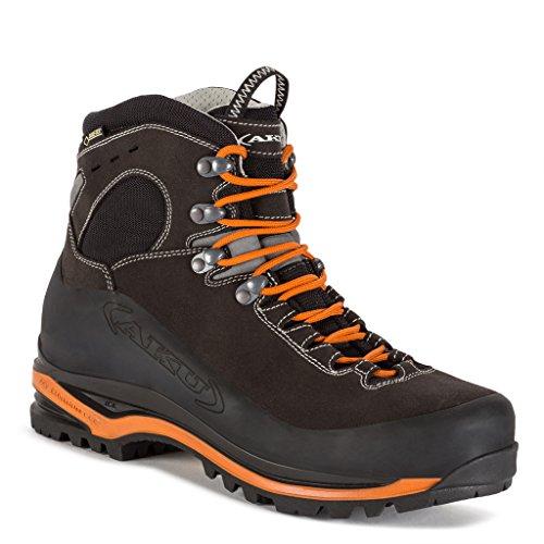 Aku Gore-tex Superalp Gtx 593 Scarpe Da Trekking In Pelle / Rete Antracite-arancio