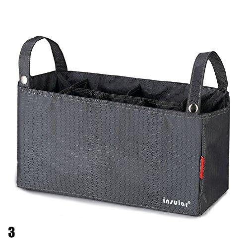 calistous Mummy Tasche Baby am Kinderwagen Aufhängen Innen Organizer Tasche Windel Schutzbezug Tasche grün grau