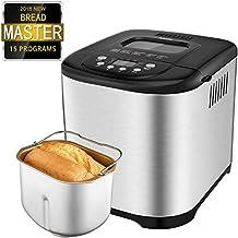 Aicok Panificadora, Máquina programable para hacer pan, Completamente Automática, 500-1000g,