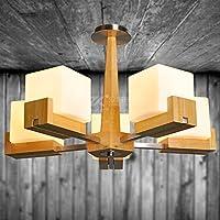 SDKKY Soggiorno illuminazione sala da pranzo in legno camera da