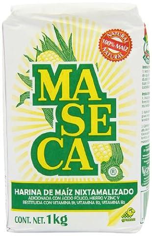 MexGrocer White Maseca Corn Flour 1 Kg (Pack of 2)