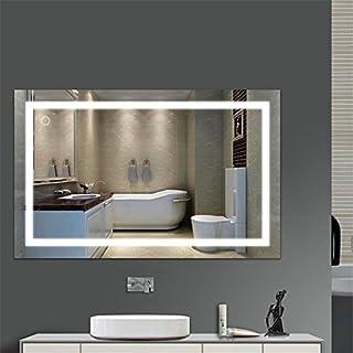 Flyelf 100 * 60CM Miroir Mural de Salle de Bains, avec la Lumière 23W, Commutateur Tactile