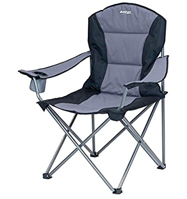 Vango Goliath Padded Camping Chair - Smoke/Black, X-Large - low-cost UK light shop.