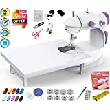 Vivir Mini Sewing Machine for Home Tailoring with Extension Table, Focus Light and Sewing Accessories