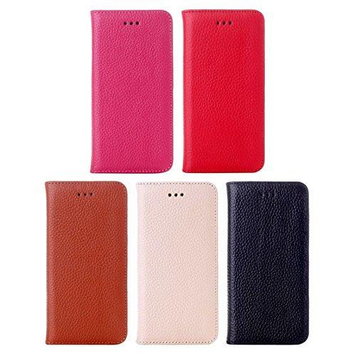 Phone case & Hülle Für iPhone 6 Plus & 6S Plus, Litchi Texture Horizontale Flip Top-Korn Leder Tasche mit Halter ( Color : Red ) Red