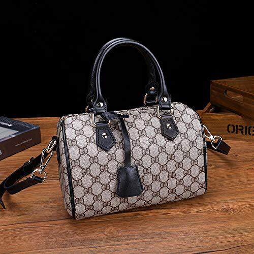 YZJLQML Damenbeutel clothesJoker eine Schulterdiagonalhandtaschenart und weise Boston-Beutelhandtasche -Black -