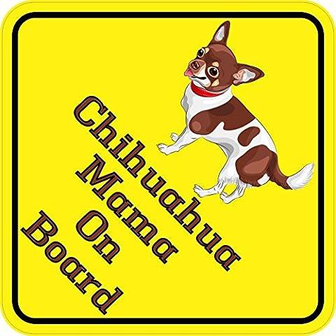 StickerTalk® StickerTalk® Brand 6in x 6in Chihuahua Mama On Board