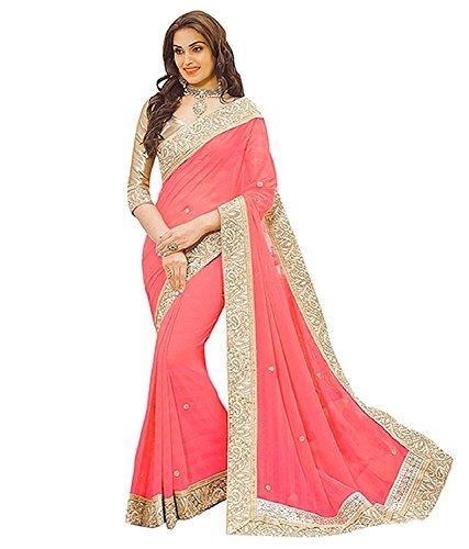 VK Saree Chiffon Saree With Blouse Piece (Priya_Free Size)