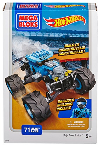 Hot Wheels Monster Truck, color azul (Mega Brands 91777)