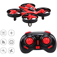 Mini RC Drone, Kingtoys® NH010 UFO RC Quadcopter 2.4G 4CH 6 Assi Modalità di controllo remoto senza testa e Full protezioni anti Crush, Rojo