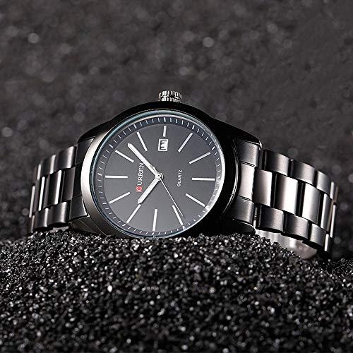 Männer Business Style Quarzuhr Männer Top-Marken-Luxus-Designer-Kalender-Uhr-runde Vorwahlknopf-Edelstahl-Quarz-Uhren - Weiß