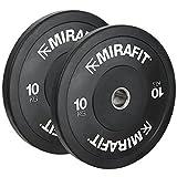 MiraFit Olympia-Gewichtsscheiben gummiert, in Schwarz – Verschiedene Gewichte