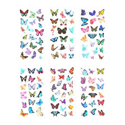 cker Schmetterling Aufkleber Kinder Mädchen PVC Deko Spielzeug für Stickerbuch Tagebuch Fotoalbum Notizbuch Kalender Dekoration Scrapbooking ()