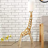 Lampe salon Cartoon Creative Girafe Lampadaire Simple Salon Chambre Lampe De Chevet Chambre de Bébé Cartoon Chaud Lampadaire En Bois Massif lampadaire (Color : White)