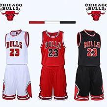 Chico Hombre NBA Michael Jordan # 23 Chicago Bulls Retro Pantalones Cortos de Baloncesto Camisetas de