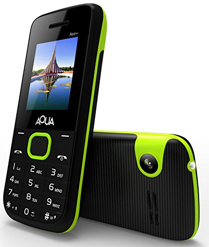 Aqua Neo Plus - 2000 mAh Battery Dual SIM Basic Keypad Mobile Phone with Vibration Feature - Black