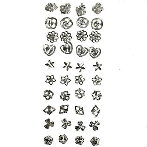 Kurtzy 20 Paar Ohrstecker 925 Sterling Silber für Damen –