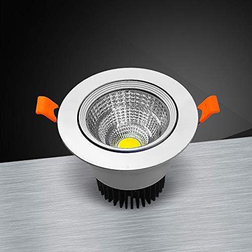 Modenny Luces de panel empotrables antiniebla para baño Downlight Ahorro de energía...
