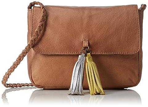 PIECES Pcfrabo Leather Cross Over Bag, Sacs portés épaule femme,