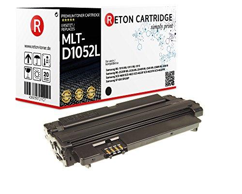 Original Reton Toner, kompatibel, Schwarz für Samsung MLT-D1052L (ML1910), ML-1910, ML-1911, ML-1915, ML2525W, ML-2526, ML-2540R, ML-2581, SCX-4600, SCX-4623F, SCX-4623FN, SF-650