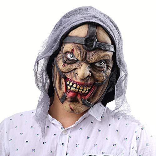 XHCP Halloween Horror Witch Pimp Monster Maske Latex Ghost Maske Kopfbedeckung