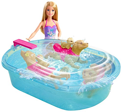 Barbie - Piscina de Perritos  (Mattel DMC32)