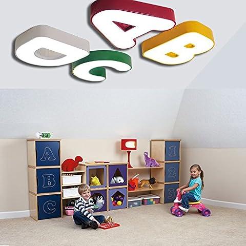 LINA-soffitto camera da letto romantica scuola materna di lampada bella lettera bambini, un