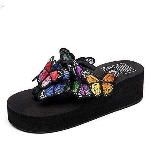 Cailin Sandals, Pantoufles artisanales à l'été féminin Lunettes de soleil papillon Chaussures de plage décontractées (taille, couleur optionnelle) ( Couleur : #7 , taille : EU38/UK5.5/CN38 ) #4
