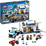 LEGO 60139 City Police Mobile Command Center Set, Truck Toy with Trailer and Motorbike, Jail Break and Chase T