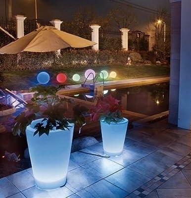 Großer LED Leucht- Blumenkübel 50 cm mit Fernbedienung